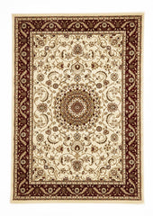 Sydney 9 Rug - Ivory with Red Border