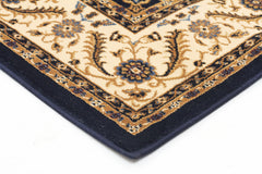 Medallion Rug Navy with Ivory Border