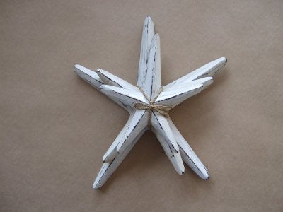 Set of 3 Starfish White