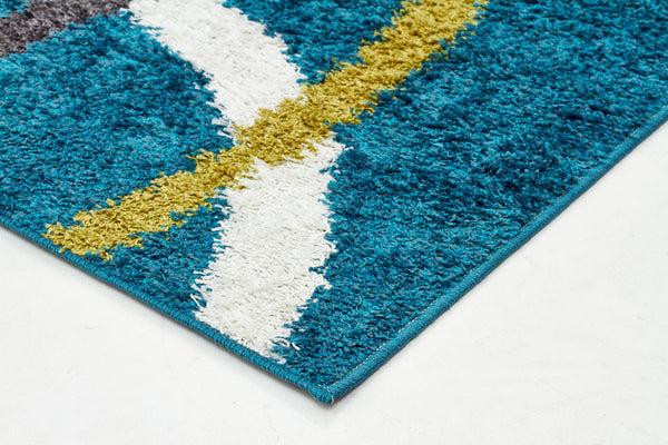 Brooklyn Shag Rug Blue
