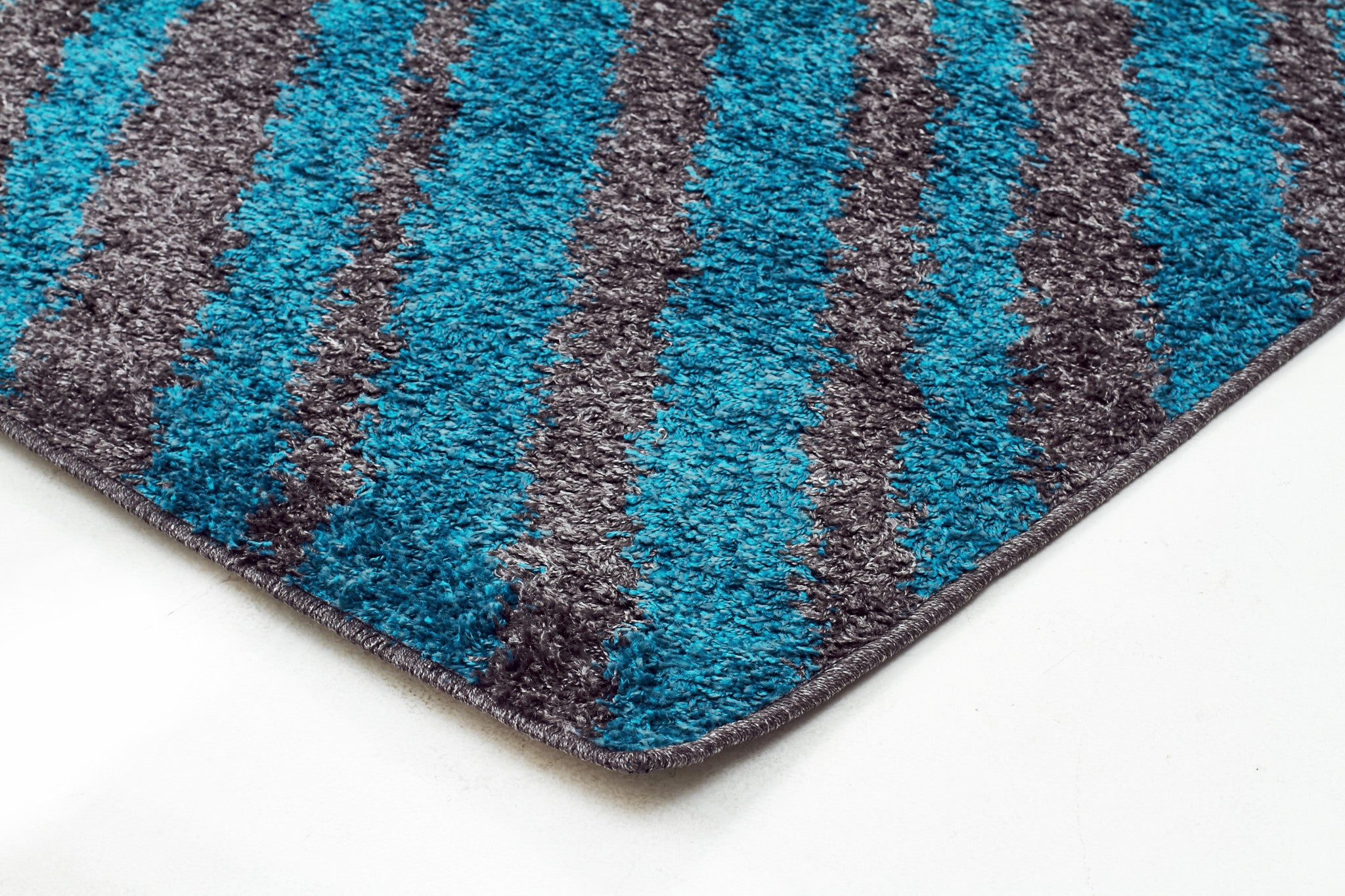 Viva 803 Shaggy Rug - Charcoal Blue