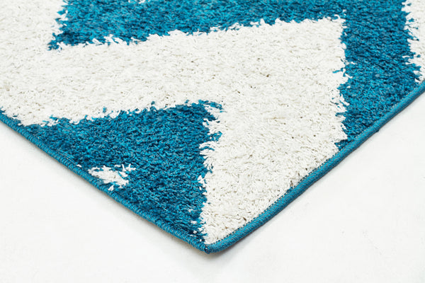 Chevy Shag Rug Blue