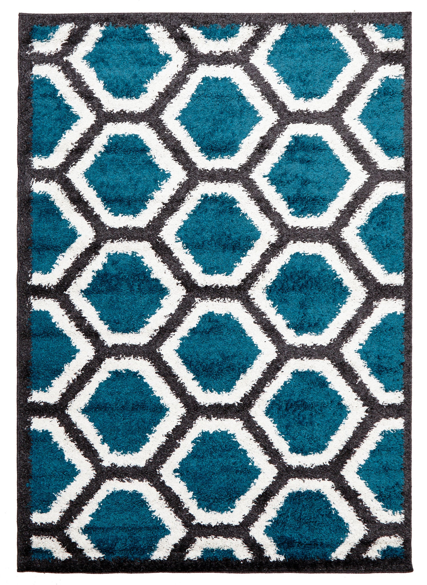 Viva 806 Shaggy Rug - Charcoal Blue