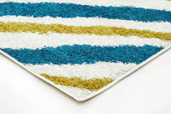 Burst Shag Rug Blue and Green