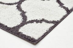 Viva 808 Shaggy Rug - White Charcoal