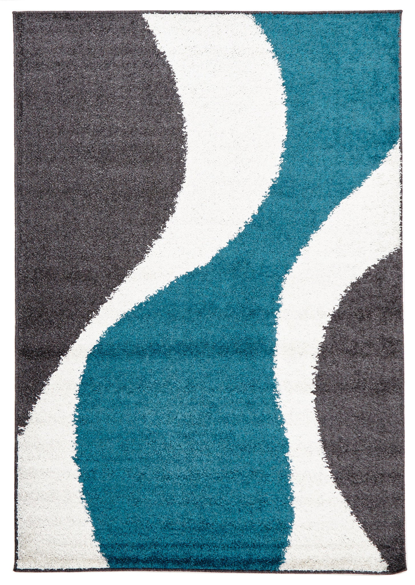 Viva 809 Shaggy Rug - Blue Charcoal White