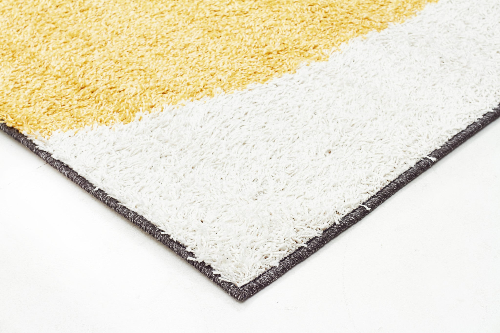 Viva 809 Shaggy Rug - Yellow Charcoal White