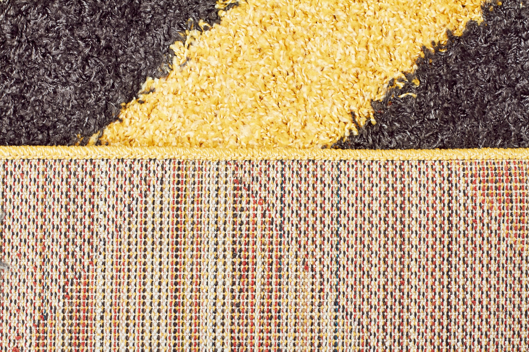 Viva 811 Shaggy Rug - Yellow Charcoal