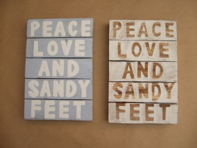 Peace and Love and Sandy Feet