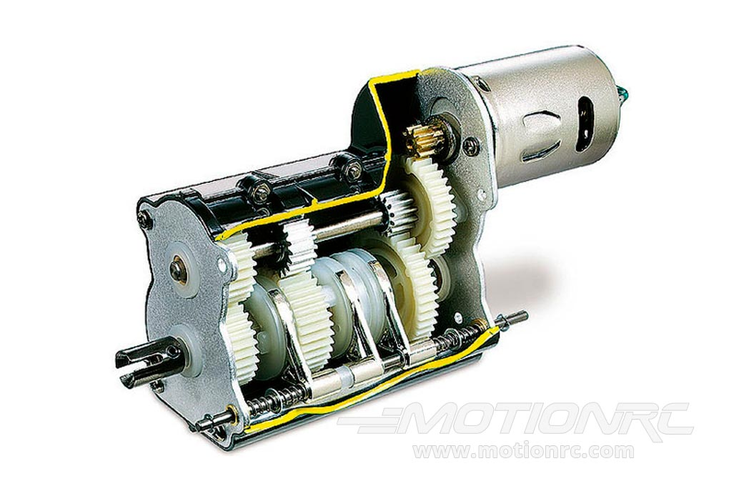 540-Sized Motor and 3-Speed Transmission