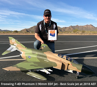 Freewing F4-D Phantom II 90mm EDF Jet - Winner for Best Scale Jet at 2018 AEF.