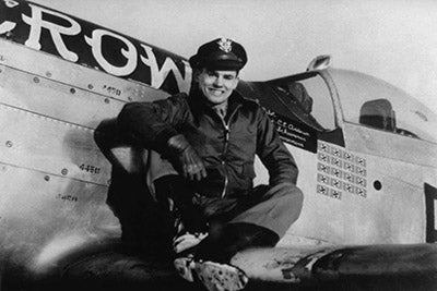 Old Crow Pilot and WWII Triple Ace Colonel Bud Anderson.