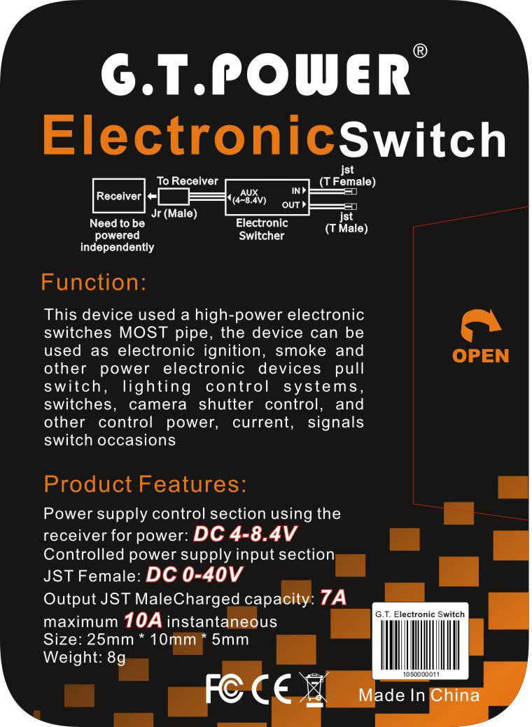 Gt Power Electrical Switch Gtpelswitch Motion Rc Electronic Circuits Questions And Answers Pdf Product