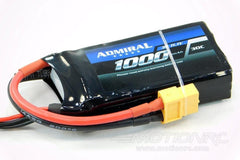 Admiral 1000mAh 3S 11.1V 30C LiPo Battery with XT60 Connector EPR10003X6