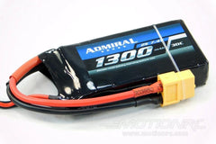 Admiral 1300mAh 2S 7.4V 30C LiPo Battery with XT60 Connector EPR13002X6