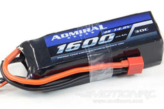 Admiral 1600mAh 4S 14.8V 30C LiPo Battery with T Connector EPR16004