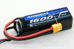 Admiral 1600mAh 4S 14.8V 30C LiPo Battery with XT60 Connector EPR16004X6