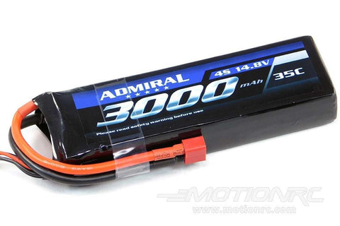 Admiral 3000mAh 4S 14.8V 35C LiPo Battery with T Connector EPR30004