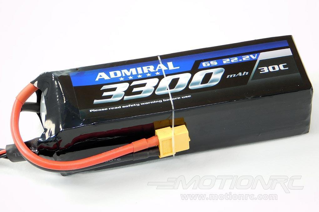 Admiral 3300mAh 6S 22.2V 30C LiPo Battery with XT60 Connector EPR33006X6