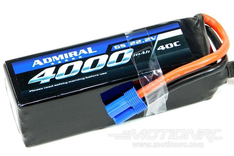 Admiral 4000mAh 6S 22.2V 40C LiPo Battery with EC5 Connector EPR40006E