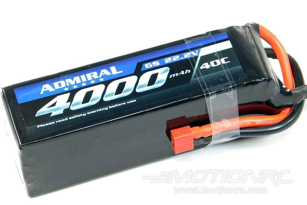 Admiral 4000mAh 6S 22.2V 40C LiPo Battery  with T Connector EPR40006