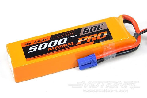Admiral Pro 5000mAh 4S 14.8V 60C LiPo Battery with EC5 Connector EPR50004PRO