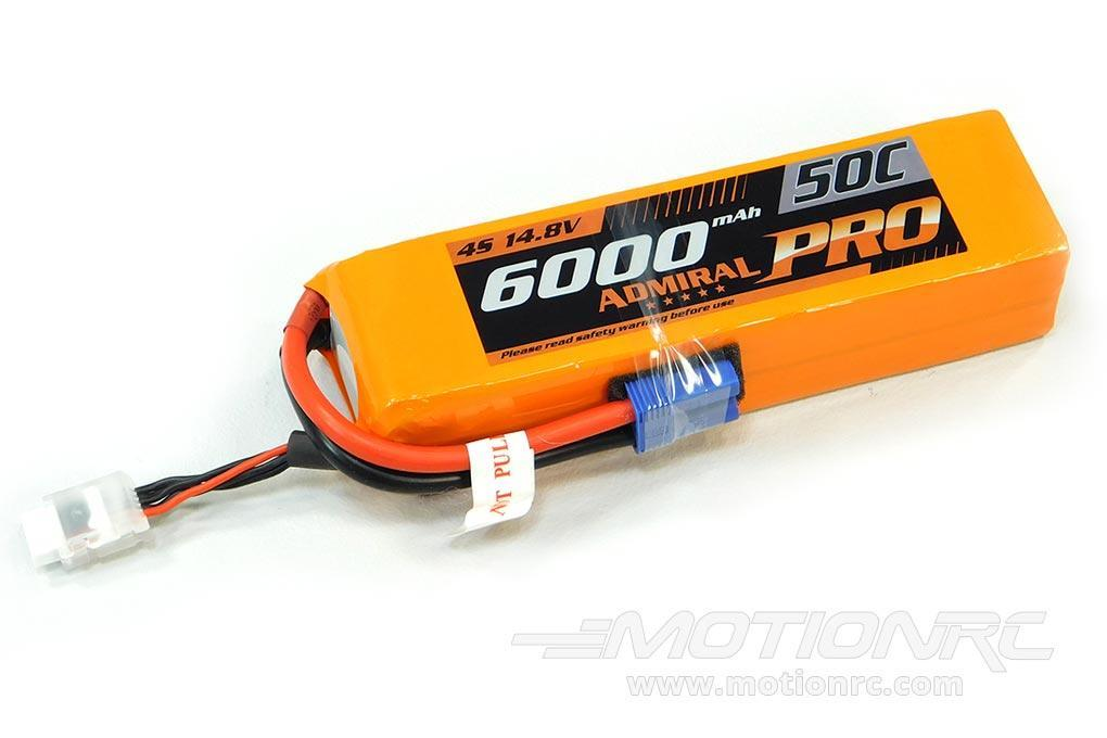 Admiral Pro 6000mAh 4S 14.8V 50C LiPo Battery with EC5 Connector EPR60004E