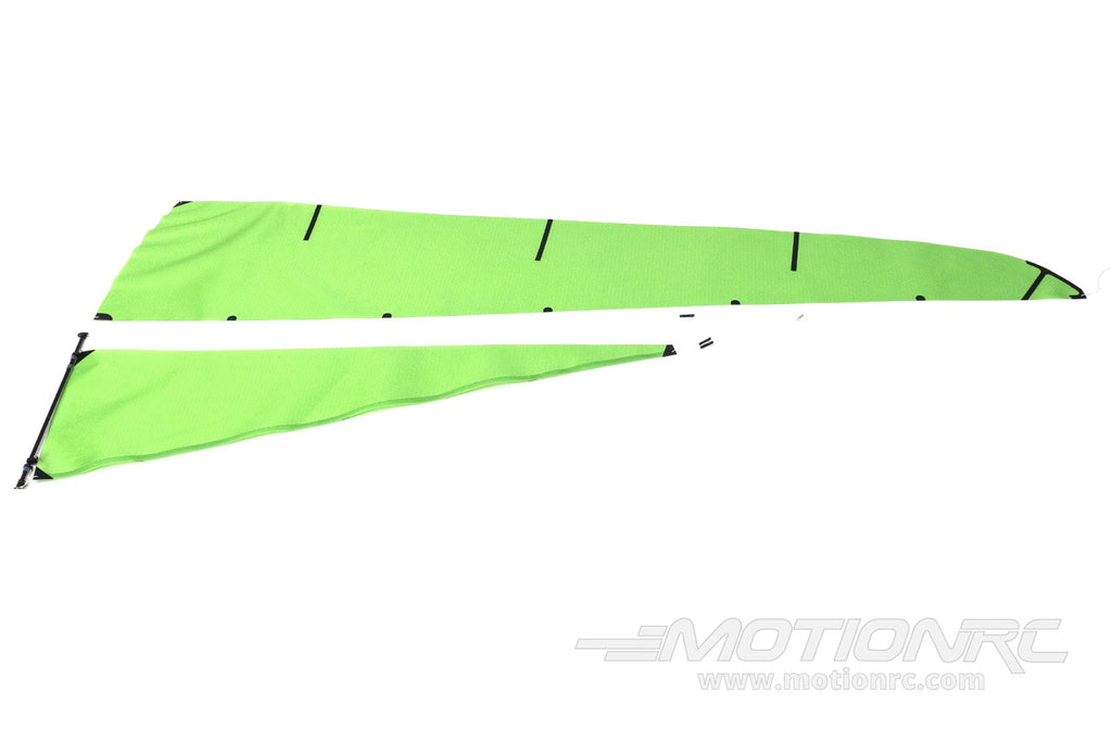 Bancroft 650mm RG65 Quickfire Green Racing Sailboat Complete Sail Set Type A BNC1013-110