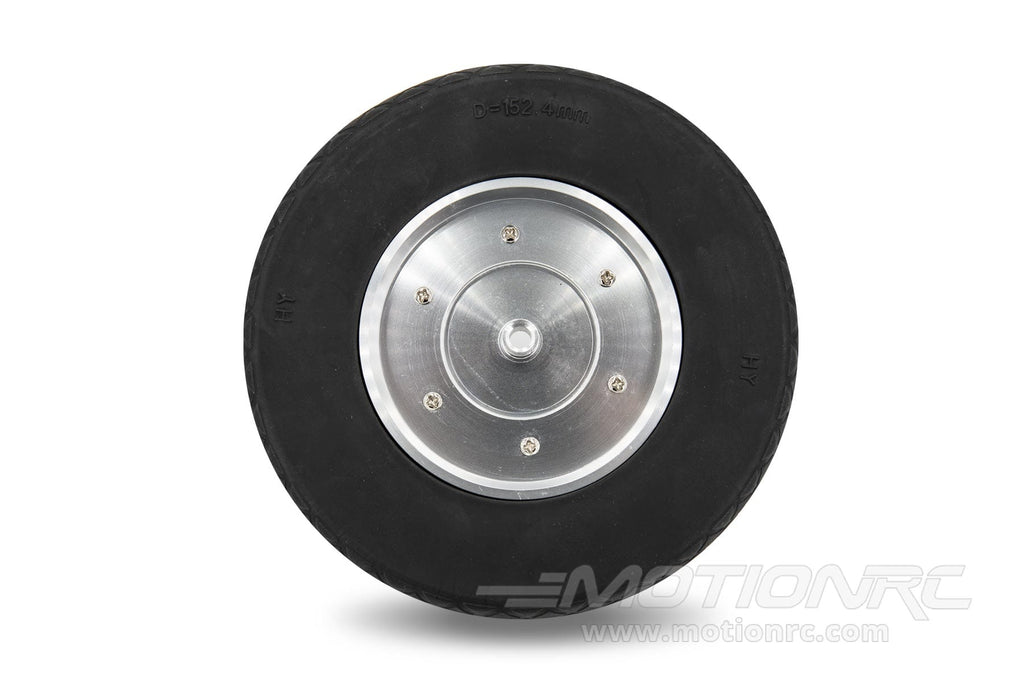 "BenchCraft 152mm (6"") x 46mm Solid Rubber Wheel w/ Aluminum Hub for 6mm Axle BCT5016-044"
