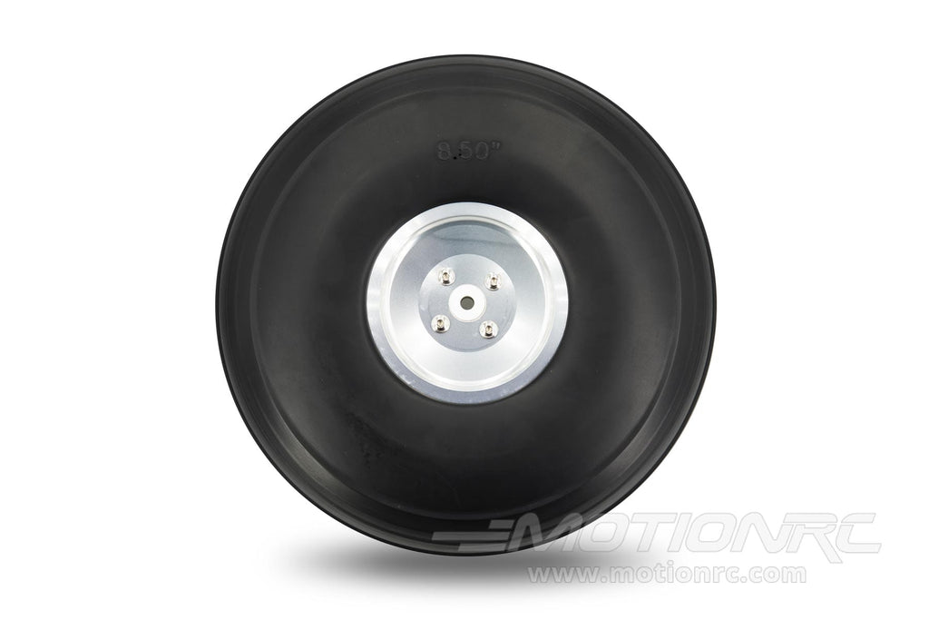 "BenchCraft 216mm (8.5"") x 65mm Treaded Foam PU Wheel w/ Aluminum Hub for 6mm Axle BCT5016-095"