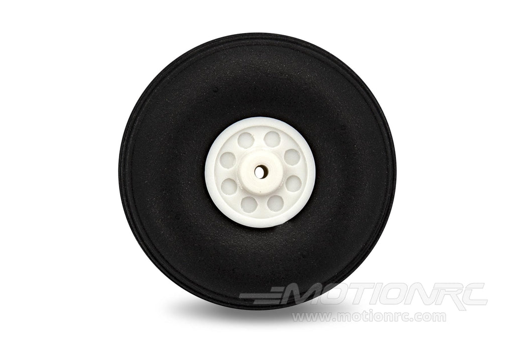 "BenchCraft 45mm (1.75"") x 16mm Treaded Ultra Lightweight Rubber PU Wheel for 2.1mm Axle BCT5016-074"