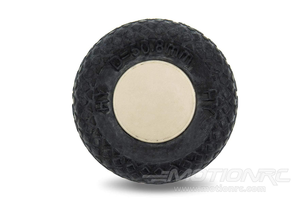 "BenchCraft 51mm (2"") x 13mm Hollow Rubber Wheel for 2.8mm Axle BCT5016-034"