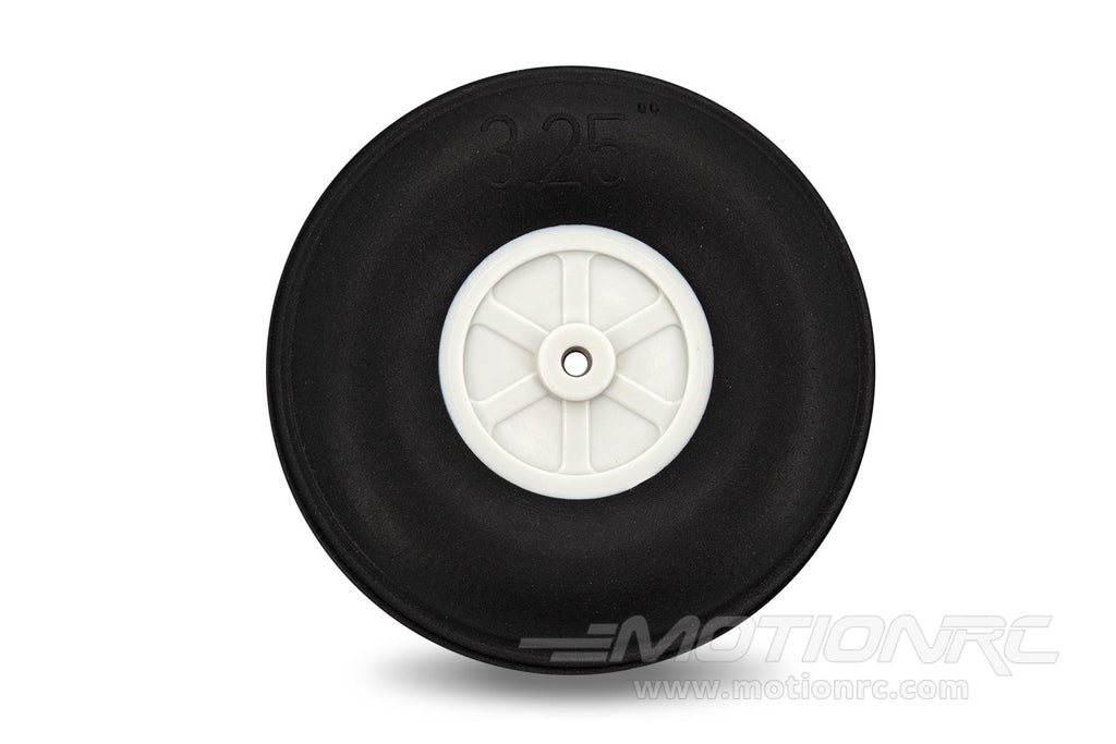 "BenchCraft 83mm (3.25"") x 28mm Treaded Ultra Lightweight Rubber PU Wheel for 3.6mm Axle BCT5016-085"