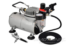 Benchcraft PC100 Airbrush Compressor Kit (incl BCT5025-008 Airbrush) w/ US Plug, Engraved logo BCT5025-004