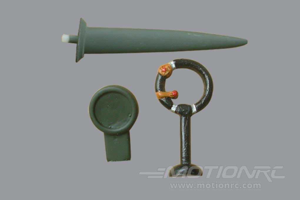 Black Horse 2000mm Spitfire Antenna and Mirror BHSF020