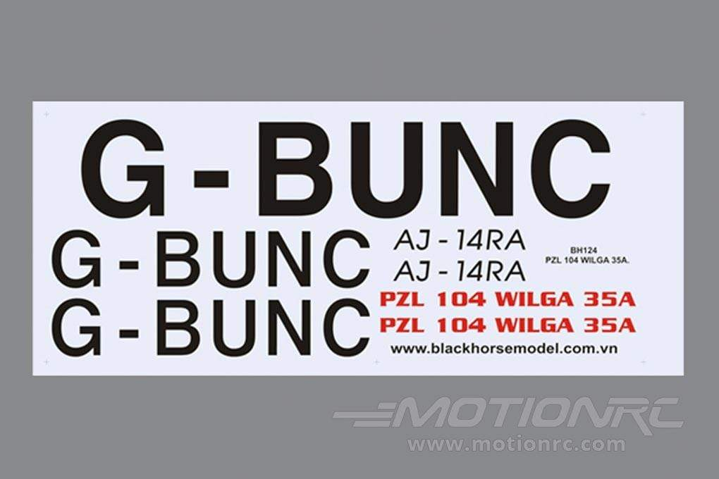 Black Horse 2240mm PZL-104 Wilga Decal Set BHWG011 – Motion RC
