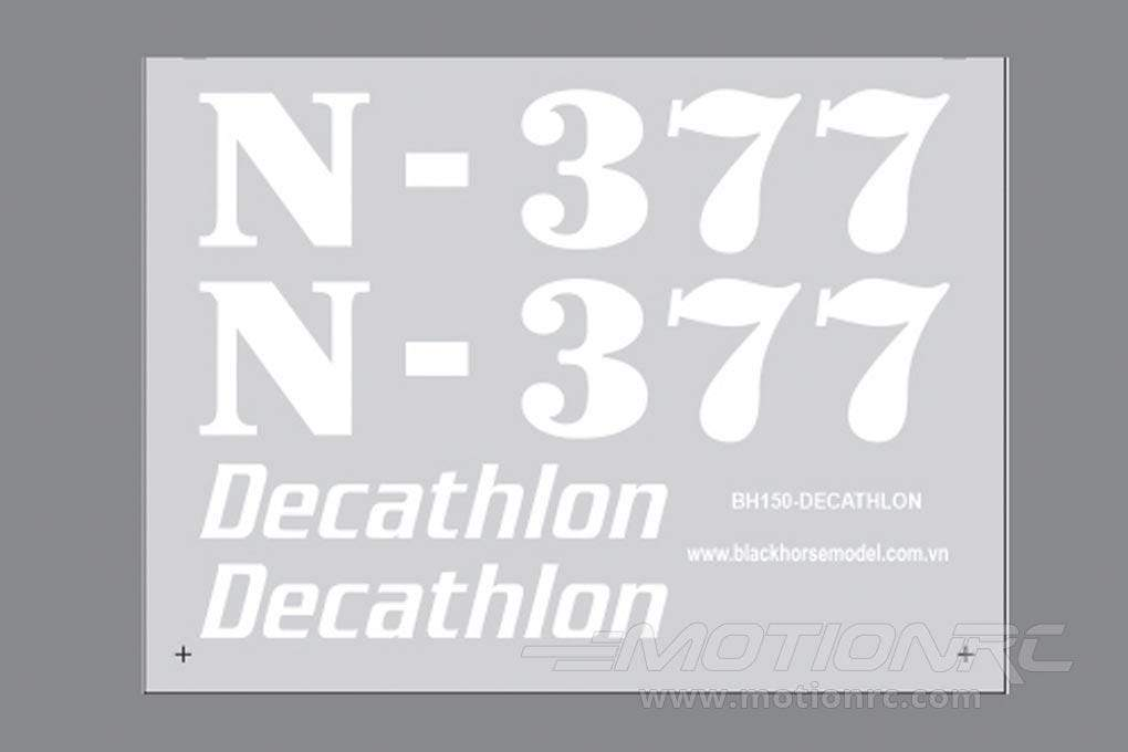 Black Horse 2450mm Super Decathlon Decal Sheet BHM1006-123
