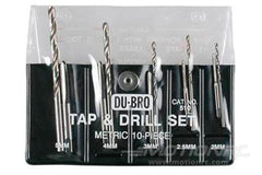 Dubro 10 Piece Metric Tap and Drill Set DUB510