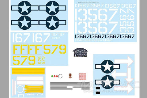 FlightLine 1600mm F4U-1D Corsair Decal Set FLW304107
