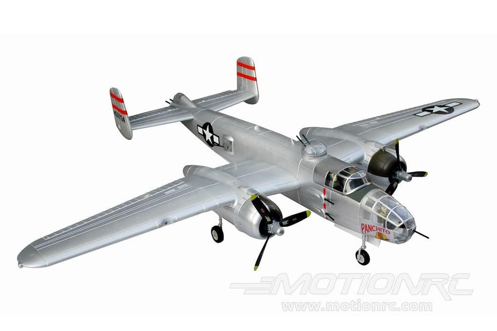 FMS B-25 Mitchell Bomber Silver 1470mm (58