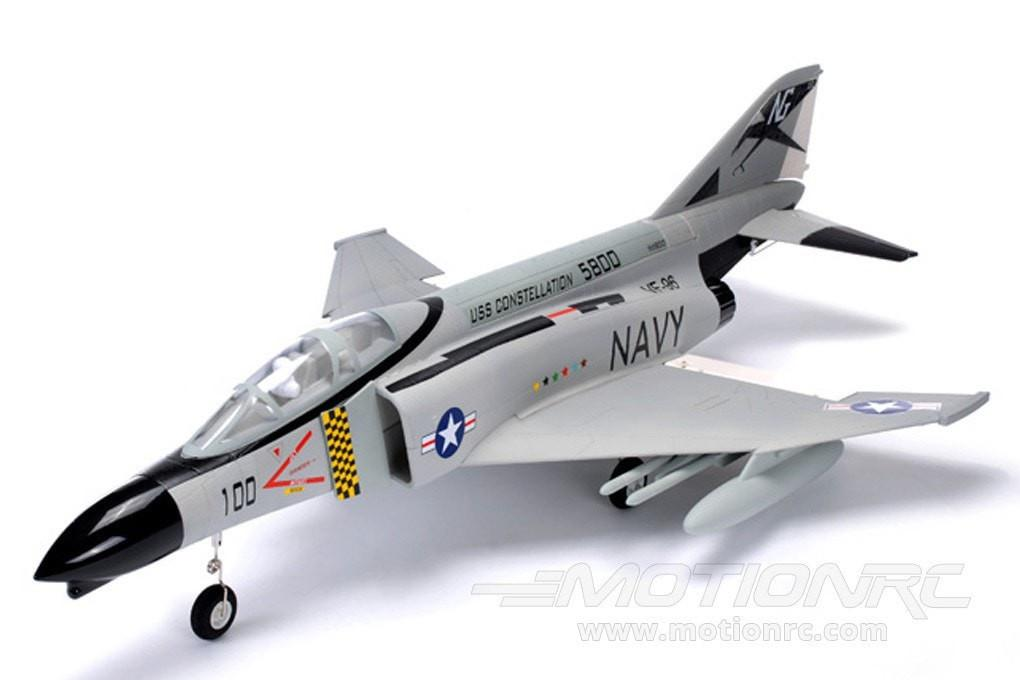FMS F-4 Phantom V2 Navy Gray 70mm EDF Jet - PNP GC003-GRY
