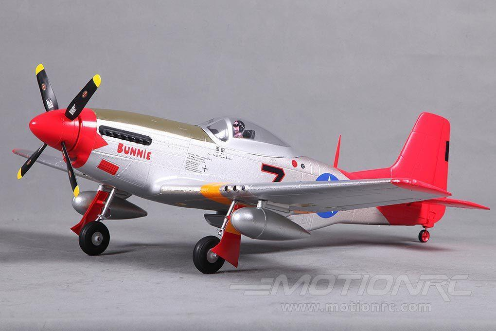 "FMS P-51 Mustang V2 Red Tail 800mm (31.5"") - PNP FMS016P-RT"