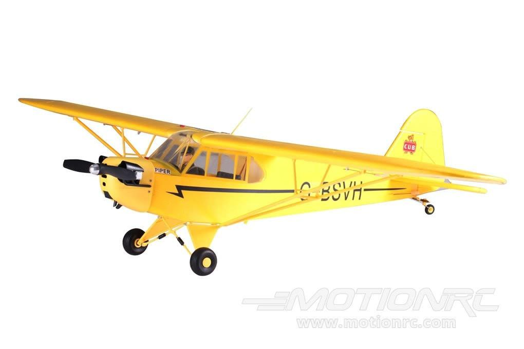 "FMS Piper J3 Cub V2 Yellow 1410mm (55.5"") Wingspan - PNP FMS035"