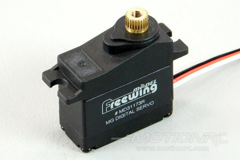 "Freewing 17g Digital Hybrid Metal Gear Reverse Servo with 100mm (4"") Lead MD31173R-100"