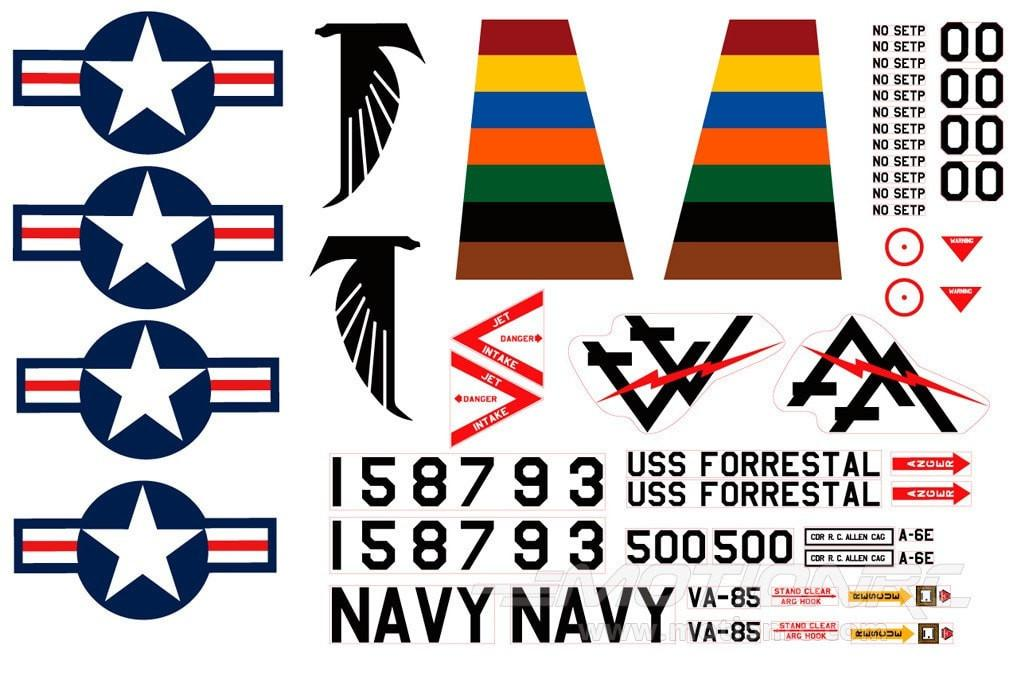 Freewing 80mm EDF A-6 Decal Sheet FJ2041107