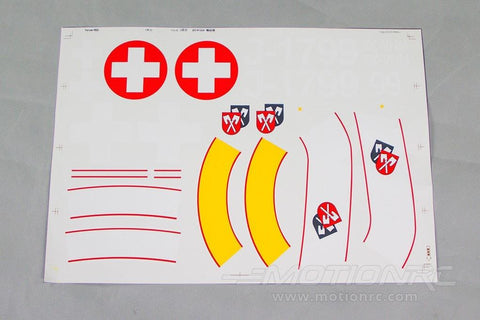 Freewing 90mm DH-112 Venom Decal Sheet - Swiss Red RJ3023107