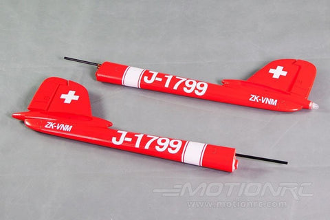 Freewing 90mm DH-112 Venom Tail Boom Set - Swiss Red RJ3023103