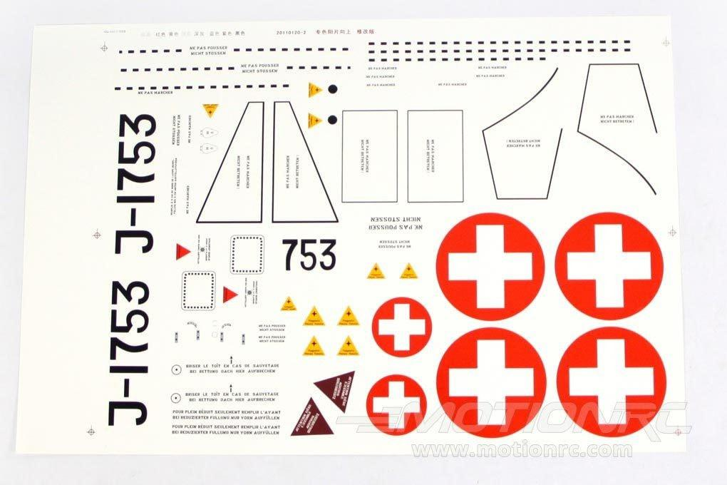 Freewing 90mm EDF DH-112 Venom Swiss Decal Sheet RJ3021107