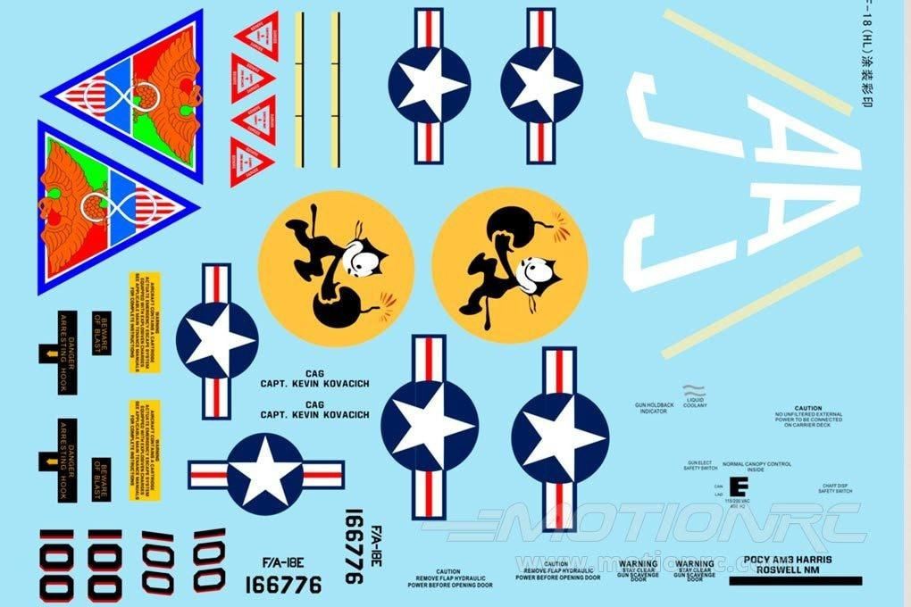 Freewing 90mm EDF F/A-18 V2 Decal Sheet FJ3021107