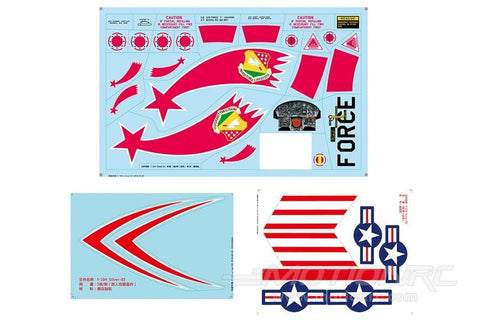 Freewing 90mm F-104 Decal Sheet - Silver FJ3101107